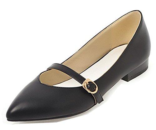 Boucle Mode Escarpins Noir Aisun Talon Petit Pointu Femme Bout qOnawIPF