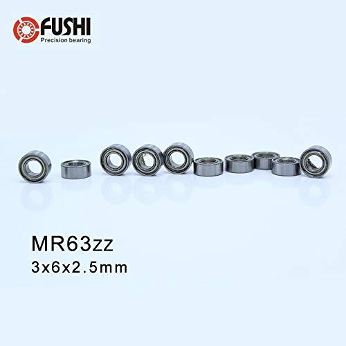 Metal OPEN PRECISION Miniature Ball Bearing 3*6*2 4 PCS 3x6x2 mm MR63