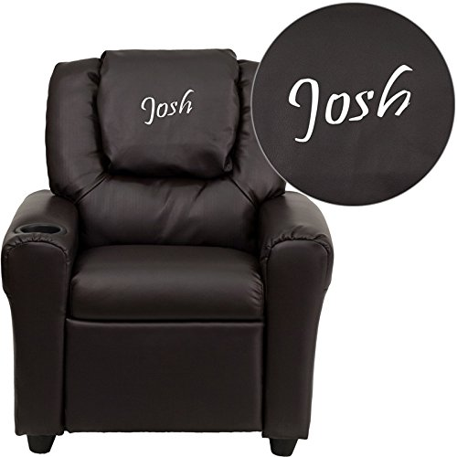 Embroidered Kids Recliner - Kids Personalized Recliner Color: Brown