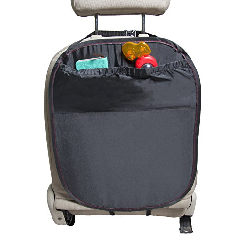 Rückenlehnenschutz Hochwertig Schwarz mit großen Taschen