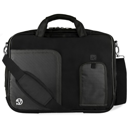 VanGoddy Jet Black Laptop Bag for Dell Latitude / Inspiron / Precision / XPS / Alienware 14