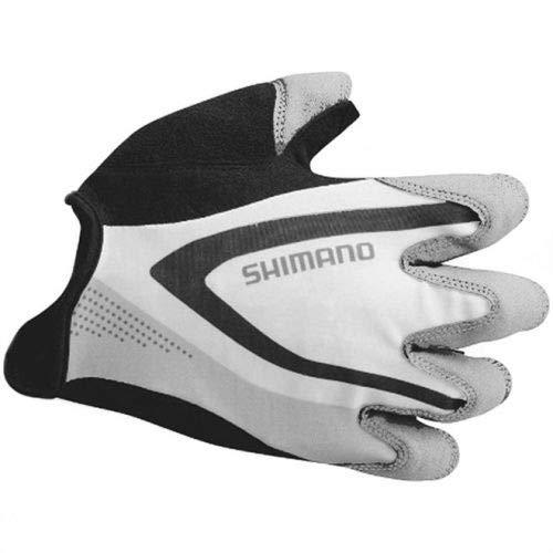 Luva Aberta Shimano Racing Cinza Claro (M)