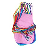 SUPVOX 24pcs Children Aprons Artists Kids Painting Aprons Non-Woven Fabric Disposable for Class Crafts Art Painting