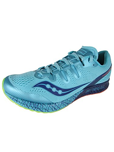 Saucony Women's Freedom ISO Running Shoe, Blue/Citron, 9.5 B(M) US from Saucony