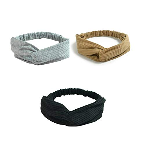 Vogue Hair Accessories Korean Style Solid Fabric Knot Stretchable Hairband Headband for Women