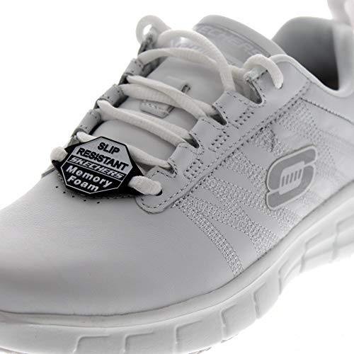 Sure Track Work Skechers Earth 76576EC Chaussures White Femmes qFHt7