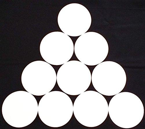 Spot Rubber Balls - 1 SET OF 10 FLAT RUBBER DISC SPOT MARKERS FOR INDOOR SOCCER FUTSAL BASKETBALL (WHITE)