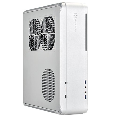 SilverStone Technology Fortress Z Aluminum Unibody Mini-ITX/DTX Small Form Factor SFX Computer Case with PCI-E Riser and Custom Low Profile Fans FTZ01S Silver