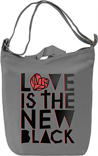 Love Is The New Black Borsa Giornaliera Canvas Canvas Day Bag| 100% Premium Cotton Canvas| DTG Printing|