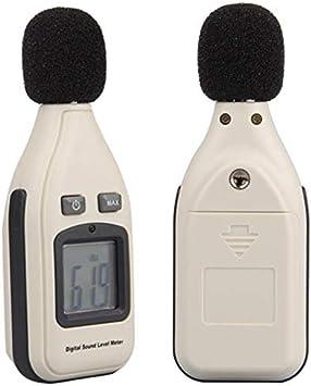 UKCOCO Pantalla LCD Mini detector de ruido del medidor de nivel de sonido digital (30 dB a 130 dB)