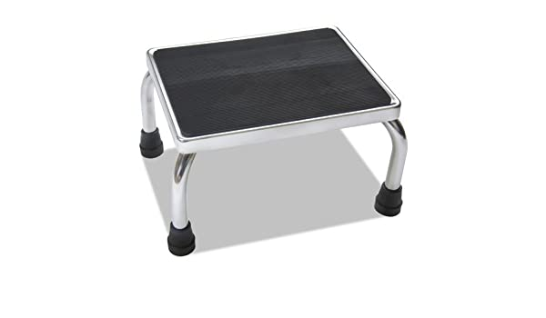 Terrific Amazon Com Mds80430I Chrome Foot Stools With Rubber Mat Gmtry Best Dining Table And Chair Ideas Images Gmtryco
