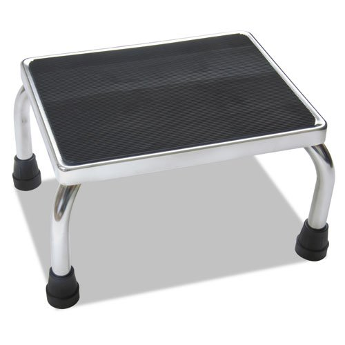 MDS80430I - Chrome Foot Stools with Rubber Mat