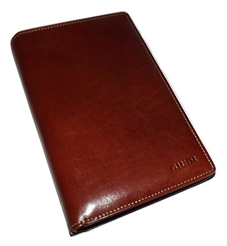 Giudi Italia Men's Tuscan Leather Breast Pocket Secretary Travel Wallet - Wallet Secretary Breast Mens