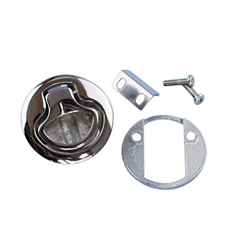 2PCS Stainless Steel Marine Boat Hatch Flush Pull Latch 2/""