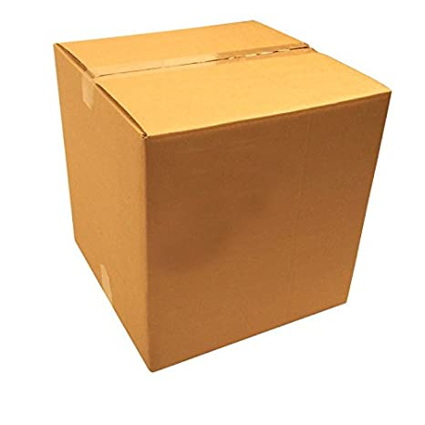 Rustiluz Pack 10 Cajas de cartón Grande. Doble 60 x 60 x 60 cm. Marrón. Muy Resistente.