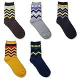 Men color Warm Soft Comfort Crew Winter Socks Pack of 5 set offers