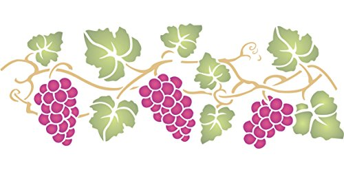 Grapevine Stencil (size 14