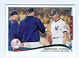 Mariano Rivera baseball card (New York Yankees) 2014 Topps #321 Derek Jeter and Andy Pettitte