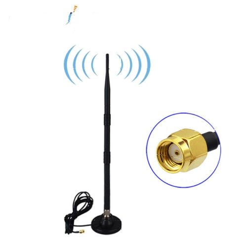 9dBi 2.4GHz 5GHz 5.8GHz WiFi Antenna with RP-SMA Magnetic Base for IP Camera AP USA Shipping by Custom Cables Group LLC