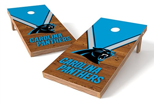 PROLINE NFL 2'x4' Cornhole Board Set - Uniform Design, Carolina Panthers