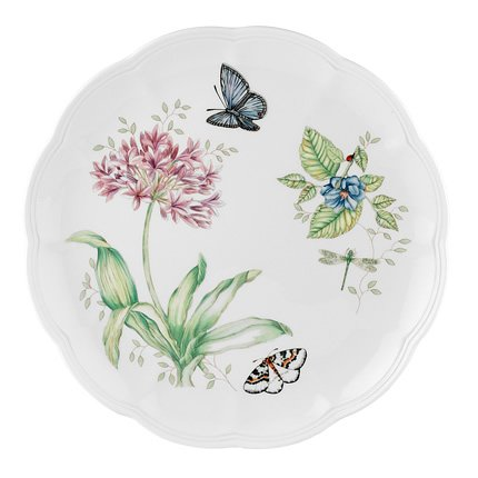 Lenox Butterfly Meadow Blue Butterfly Dinner Plate (Louise Coupe)
