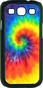 Tie Dye- Case for the Samsung Galaxy S III-S3- Hard Black Plastic Snap On Case wangjiang maoyi by lolosakes