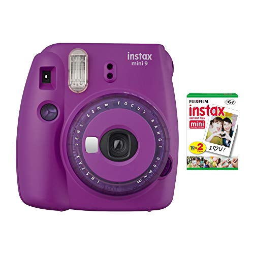 Fujifilm Instax Mini 9 Instant Camera with Mini Film Twin Pack (Purple)