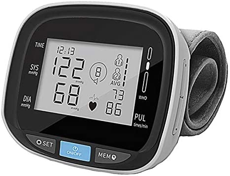 Blood Pressure Monitor Cuff Wrist – Digital BP Monitor FDA Approved – Fully Automatic Accurate Wrist Blood Pressure Monitor for Home – Wrist BP Machine with Large LCD Display