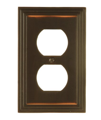 Amerelle 84DVB Steps Cast Metal Wallplate, Aged Bronze by Amerelle