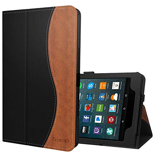 Ztotop Folio Case for Amazon Fire HD 8 Tablet (8th/7th Generation, 2018 and 2017 release) - Smart Leather Cover Slim Folding Stand Case with Auto Wake/Sleep for Fire HD 8 Tablet,Dualcolor