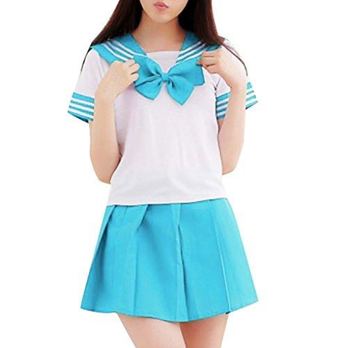 Hee Grand Japan School Uniform Dress Cosplay Costume Anime Girl Lady Lolita Chinese M Sky Blue