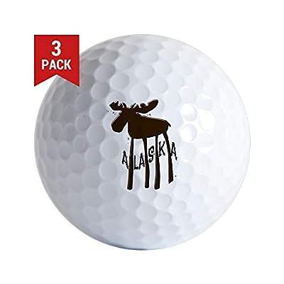 CafePress Alaska Moose Golf Balls (3-Pack), Unique Printed Golf Balls
