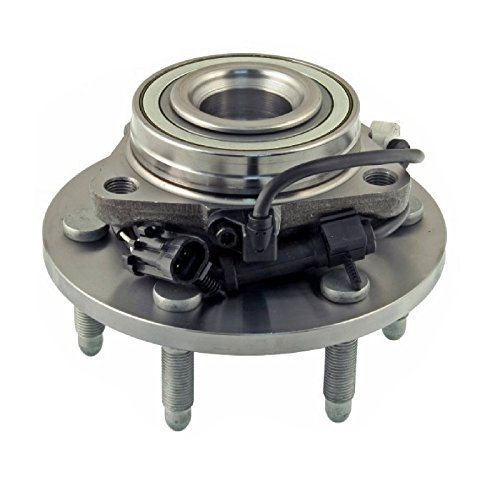 Single Front Left or Right Wheel Hub Bearing Assembly fit 1999-2006 GMC SIERRA 1500 (with 4 Wheel Drive, 6 studs)