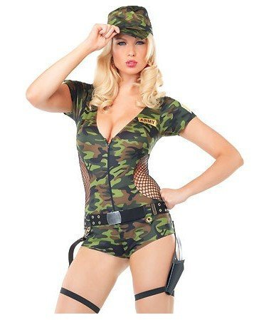 Topry (TM) 2016 Sexy Jumpsuit Women Camouflage Clothing field Army instructors Uniforms Halloween (2)