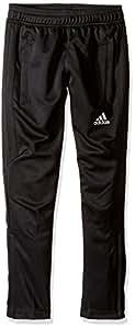 adidas Youth Soccer Tiro 17 Pants, XX-Small - Black/White