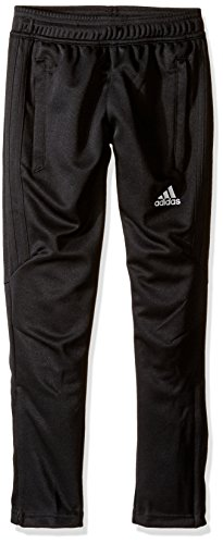 (adidas Youth Soccer Tiro 17 Pants, Large - Black/White)