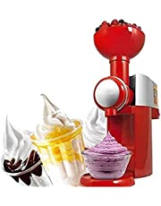 FREEZYMAN Electric Ice Cream Maker- Frozen Fruit Dessert Machine Portable Frozen Yogurt Timer Function Removable Bowl Easy to Clean for Home Use