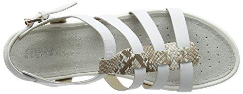 D Toe Geox C0813 White Women's White Lt a Sandals Open Vega Beige B1aHq