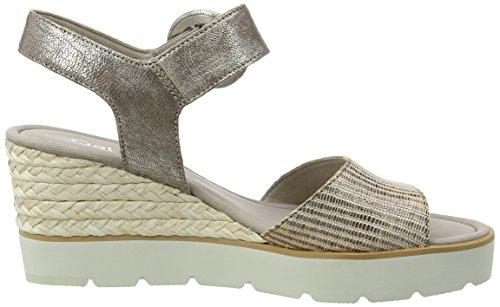 Gabor Shoes Fashion, Sandalias con Cuña para Mujer Marrón (torba 63)