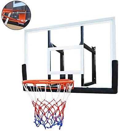 MGIZLJJバスケットゴール バスケットボールウォールマウントボード、大人の家庭用バスケットボールボードラック、ハンギング、大人と子供のためのラックを撮影屋外エンターテイメント屋内の壁型バスケットボール、