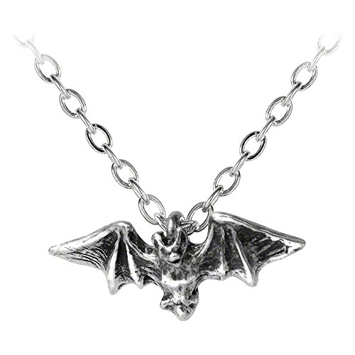 Alchemy Gothic Women's Kiss Of The Night Pendant Necklace - One Size, (Silver) -