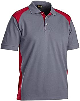 Blakläder 332410509456 X S camisa polo talla XS color gris/rojo: Amazon.es: Bricolaje y herramientas