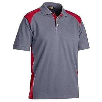 Blakläder 332410509456 X S camisa polo talla XS color gris/rojo ...