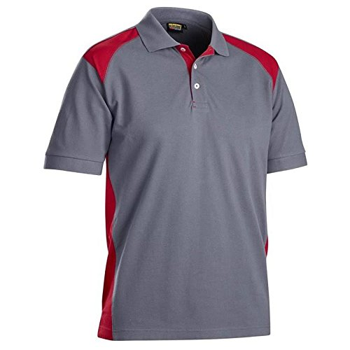 Size XS Blaklader 332410509456XS Polo-Shirt Grey//Red