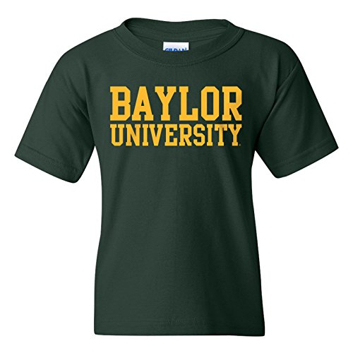 - Baylor Bears Basic Block Youth T-Shirt - Medium - Forest Green