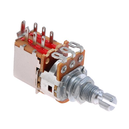 Kmise A2301 Potentiometer B250k Push Pull Switch with Nut & Washer