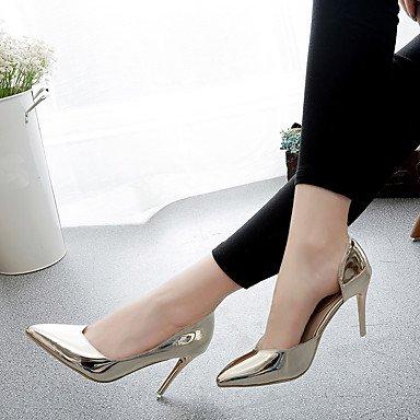 2'5 Pu Mujer ggx Primavera 4'5 Lvyuan Informal Tacón Dorado Plata Sandalias Stiletto Silver Champaña Cms Verano Confort OxCwq