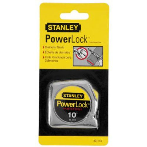 Stanley 33-115 10-Foot-by-1/4-Inch PowerLock Pocket Tape Rule (Ruler Tape)