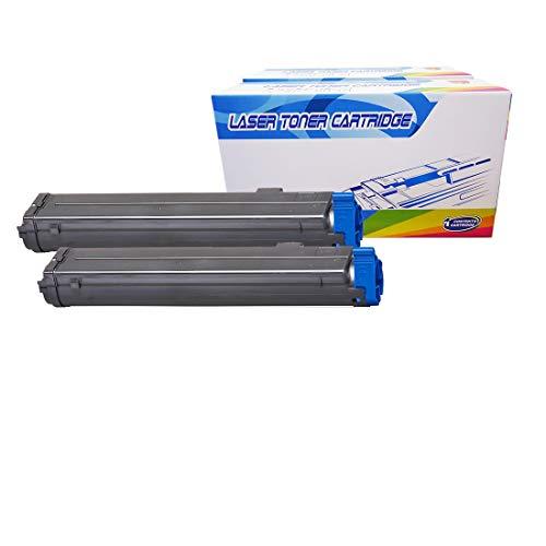 Inktoneram Compatible Toner Cartridges Replacement for Okidata B4600 / B4550 / B4400 /B4500 B4600n B4500n B4550n B4400n 43502301 (Black, 2-Pack) ()