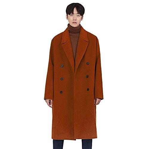 Fvbuhhi dans la Section du Manteau en Laine pour Hommes Les Hommes Pardessus Woolen Manteau Manteau d'hiver,Couleur voitureamel,l